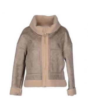 Куртка BONSUI. Цвет: бежевый