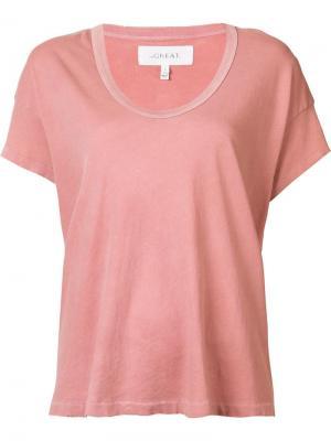 Scoop neck T-shirt The Great. Цвет: розовый и фиолетовый