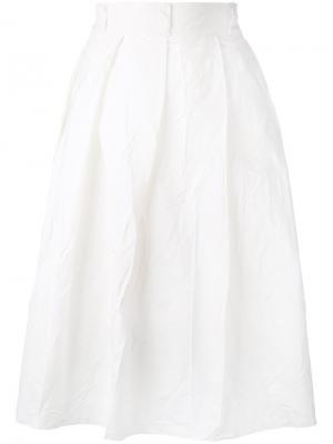 Плиссированная юбка Daniela Gregis. Цвет: белый