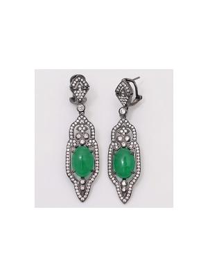 Серьги BALEX. Цвет: зеленый, серебристый, черный