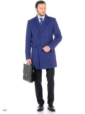 Пальто BAZIONI. Цвет: синий
