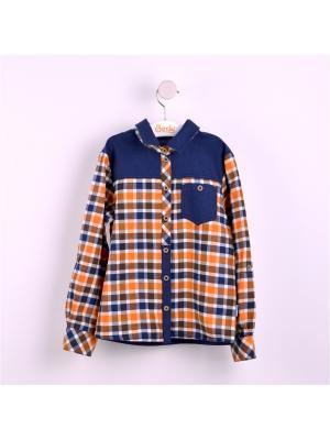 Рубашка Bembi. Цвет: синий, терракотовый