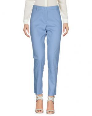 Повседневные брюки CAPPELLINI by PESERICO. Цвет: небесно-голубой