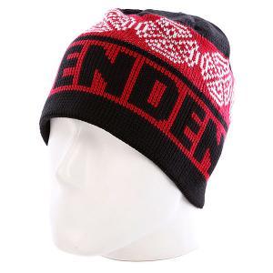 Шапка  Woven Crosses Beanie Red/Black/White Independent. Цвет: черный,красный