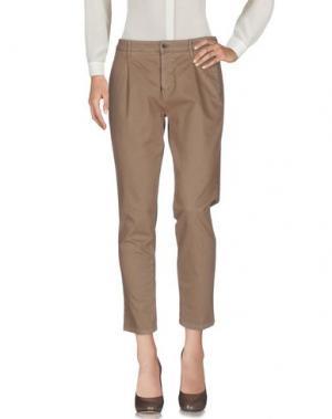 Повседневные брюки 0/ZERO CONSTRUCTION. Цвет: светло-коричневый