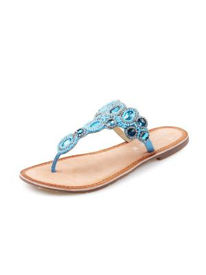 Пантолеты Mon Ami. Цвет: голубой