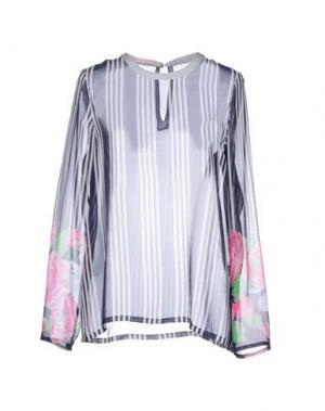 Блузка CATERINA GATTA. Цвет: темно-синий