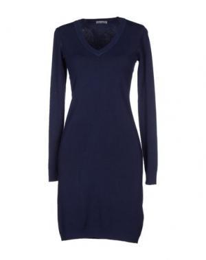 Короткое платье DANIELA FARGION. Цвет: темно-синий