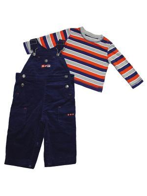 Комплект из 2-х предметов Чемпион Little Me. Цвет: синий, оранжевый, серый