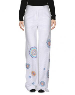 Повседневные брюки SI-JAY. Цвет: белый