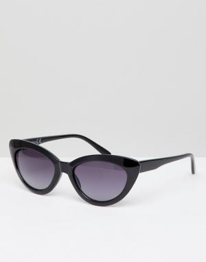 Missguided Солнцезащитные очки кошачий глаз. Цвет: черный