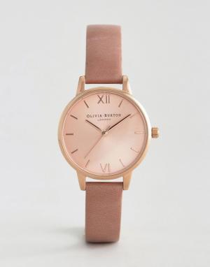 Olivia Burton Розовые часы с кожаным ремешком. Цвет: розовый