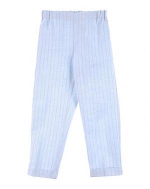Повседневные брюки LA STUPENDERIA. Цвет: небесно-голубой