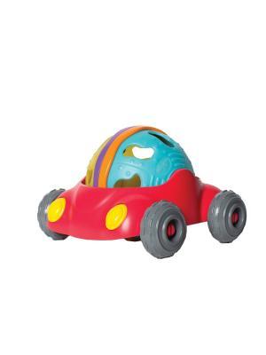 Погремушка Машинка Playgro. Цвет: голубой, желтый, красный