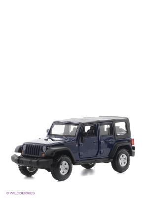 1:32 BB Машина JEEP WRANGLER UNLIMITED RUBICON металл. Bburago. Цвет: синий, черный