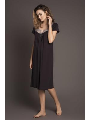Ночная сорочка Laete. Цвет: коричневый