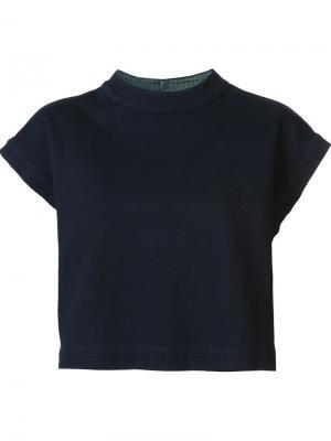 Топ с рукавами-кап Ag Jeans. Цвет: синий