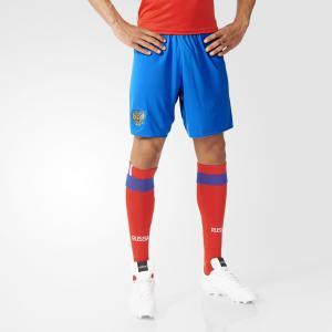 Выездные игровые шорты сборной России  Performance adidas. Цвет: белый