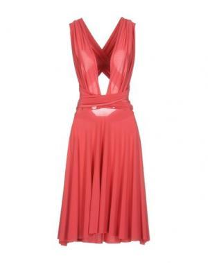 Платье до колена VON VONNI. Цвет: коралловый