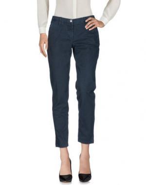 Повседневные брюки SHAFT. Цвет: грифельно-синий