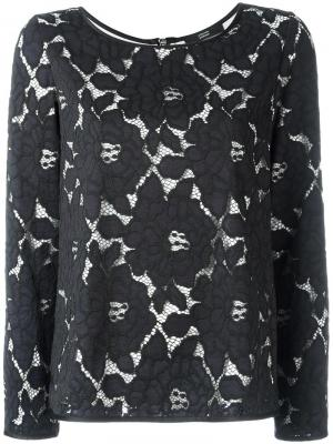 Блузка с узором Steffen Schraut. Цвет: синий