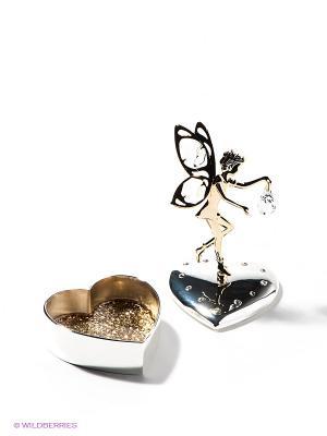 Шкатулка Фея Юнион. Цвет: серебристый, золотистый