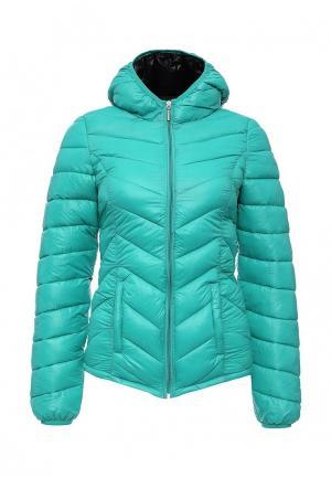 Куртка утепленная oodji. Цвет: бирюзовый