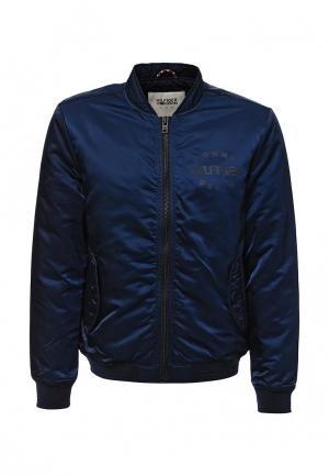 Куртка утепленная Tommy Hilfiger Denim. Цвет: синий