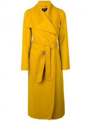 Пальто-тренч с поясом Mackage. Цвет: жёлтый и оранжевый