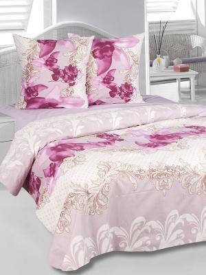 Комплект постельного белья Орхидея Тет-а-Тет. Цвет: розовый