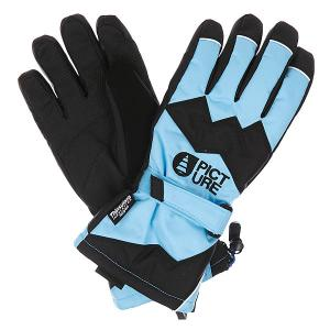 Перчатки сноубордические  Never Blue Picture Organic. Цвет: голубой,черный