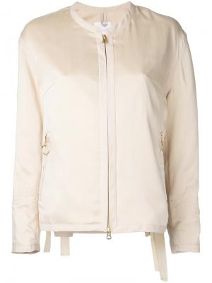 Куртка на молнии Cityshop. Цвет: телесный