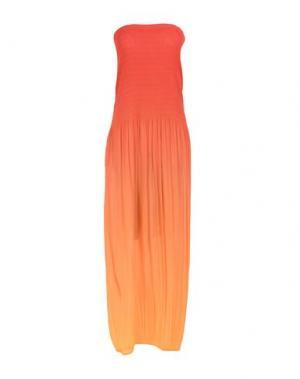 Длинное платье ED 2.0. Цвет: оранжевый