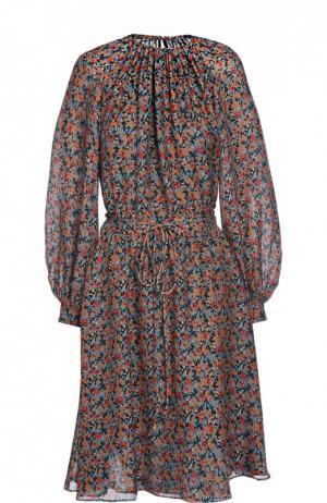 Платье с поясом Derek Lam. Цвет: бирюзовый