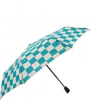 Складной зонт с прорезиненной ручкой Doppler. Цвет: клетка