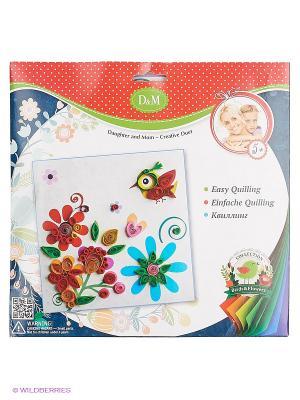 Набор для квиллинга Цветы и птицы Делай с мамой. Цвет: красный