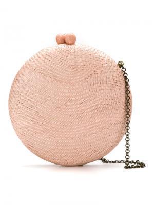 Сумка-клатч округлой формы Serpui. Цвет: розовый и фиолетовый