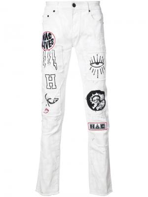 Джинсы Punk Da Funk Haculla. Цвет: белый