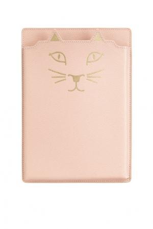 Чехол для Кожаный iPad Feline Mini Charlotte Olympia. Цвет: розовый