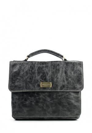 Портфель Magoli. Цвет: черный