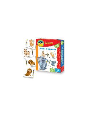 Игра для малышей Мамы и малыши Vladi Toys. Цвет: коричневый, голубой, желтый