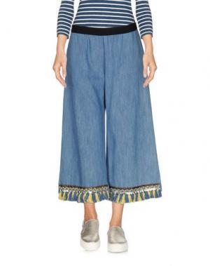 Джинсовые брюки-капри DV Roma. Цвет: синий