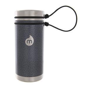 Термокружка  V5 Gray Hammer Paint Sst Lid N Rope Leash Mizu. Цвет: серый,черный