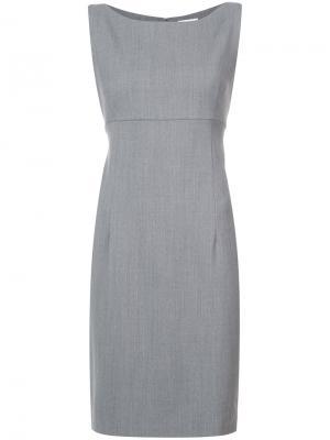 Приталенное платье без рукавов Milly. Цвет: серый