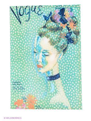 Обложка для автодокументов Мадам Mitya Veselkov. Цвет: зеленый, голубой, бежевый