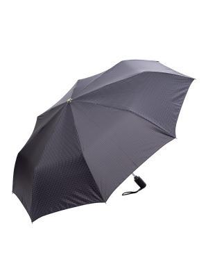 Зонт Slava Zaitsev. Цвет: черный,серо-голубой