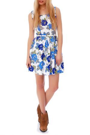 Платье Mela london. Цвет: белый, мультицвет