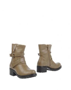 Полусапоги и высокие ботинки CHASSÈ. Цвет: хаки