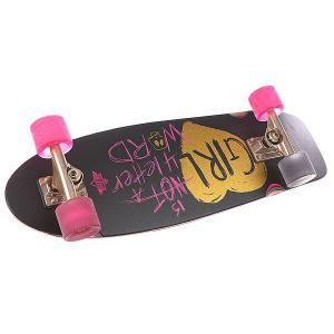 Скейт мини круизер  S5 Gn4lw Cruiser 28.5 x 8.6 (22.0 см) Black Dusters. Цвет: фиолетовый,черный