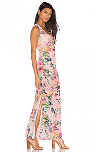 Платье roxxana sky. Цвет: розовый